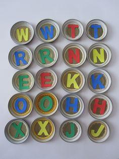 Mémory de lletres. Es pot fer amb majuscules/minúscules