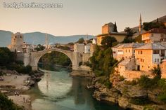 Mostar, not really a favorite but the bridge is beautiful.   Bosnia & Hercegovina