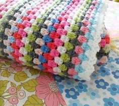My next crochet project. A blanket like this but in blues, camels, white and greys for Euan's bed