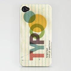 TYPO Typography iPhone Case