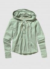 Necessity Terry Hooded Pullover Gypsum Green