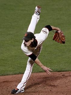 """My boys of summer - Tim Lincecum - with his technique, he earned the nickname """"The Freak"""".  Love this guy!"""
