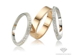 Peter W Beck Wedding Rings FC3586 & F - Available in 9ct & 18ct Yellow, Rose and White Golds, Platinum and Palladium