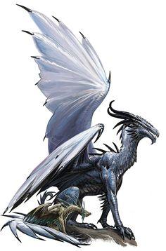 Ancient Silver Dragon by BenWootten.deviantart.com on @DeviantArt