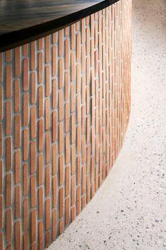 Eat Drink Design Awards Restaurant Concept, Restaurant Design, Restaurant Counter, Bar Interior Design, Cafe Design, Architecture Restaurant, Architecture Design, Bar Tile, Brick Projects