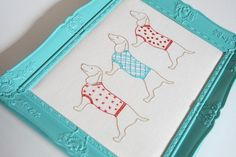 Nelda's Dachshunds -- 10 Free Embroidery Patterns for Beginners