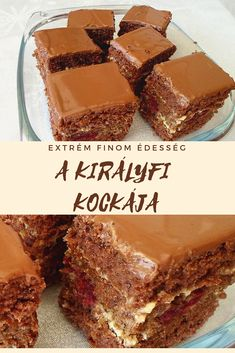 Hungarian Cake, Hungarian Recipes, Smoothie Fruit, Cake Bars, Dessert Recipes, Desserts, Fudge, Food And Drink, Cooking Recipes
