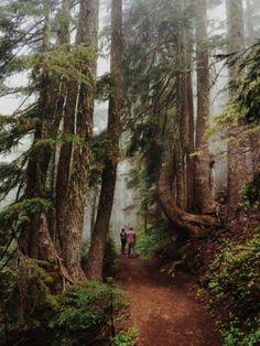 Brenna Nickels and Chase Blood. Wonderland trail. Mt Rainier National Park, Washington