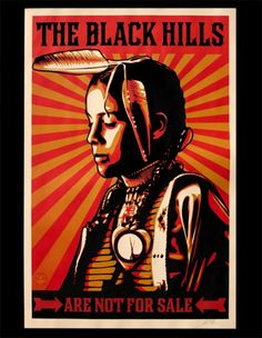Black Hills Paster by Shepard Fairey