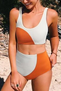 Hit the beach with confidence in the hottest new high-waist swimsuits from Beachsissi. Enjoy cutout swimwear, high-waisted swimsuits/bikinis & fun prints and patterns. Swimsuits For Big Bust, Best Swimsuits, Vintage Swimsuits, Cute Swimsuits High Waisted, Retro High Waisted Bikini, Swimsuit Styles, Bikini Vintage, Trendy Bikinis, Nice Bikinis