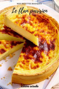 Recette flan - flan parisien - recette facile - recette dessert - flan pâtissier -