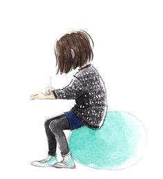 Gemischtwaren - Frau Annika — Illustration