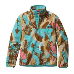 Patagonia Womens Lightweight Synchilla Snap-T Fleece Pullover Feather Dance: Bear Brown