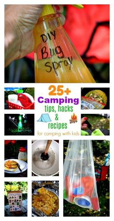 Make your family camping adventure fun and stress free with these tips, hacks, ideas and kid friendly recipes for camping with kids. - Over 25 Camping Tips, Hacks and Recipes for Camping with Kids Diy Camping, Camping Glamping, Camping Lights, Camping And Hiking, Camping Meals, Family Camping, Camping Recipes, Camping Tricks, Outdoor Camping