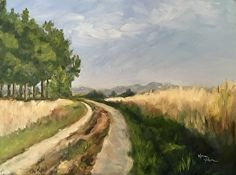 Road Less Traveled  ©2016 Norma Wilson Oil On Canvas 18 x 24 x 1.5 inches $795