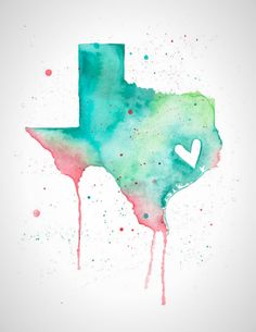 Brighten up your wall decor with this Texas print.