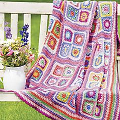 Pink and Pretty Granny Afghan by Margret Wilson. Crochet World Magazine, Fall 2010: Afghans!