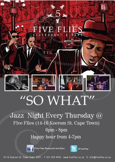 Jazzy vibes at Five Flies Restaurant Cape Town