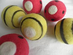 Wool Dryer Balls set of 6 Lavender filled Eco by WoolyTopic, $35.00