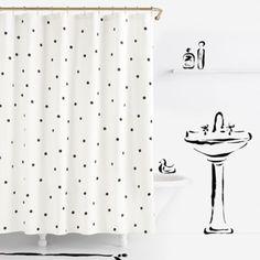 kate spade new york Deco Dot Shower Curtain - BedBathandBeyond.com