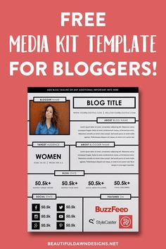 A media kit is a document that tells potential sponsors statistics about your blog. Create your media kit with this free media kit template for bloggers.