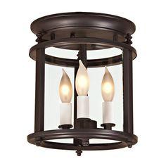 Murray Hill bent glass ceiling lantern - Small