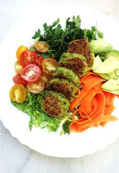 Easy Peasy Spinach Falafels {Vegan}