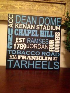 University of North Carolina UNC Tarheels by MakingTheSubway, $32.00