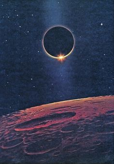 David Hardy - The Ring of Fire (from The New Challenge of the Stars by Patrick Moore & David Hardy 1977)