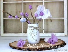 DIY Shabby Chic Flowers made from Maxi Pads!   #RecycleYourPeriodPad