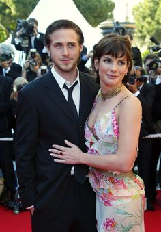 Pin for Later: L'Amour! The Hottest Cannes Couples Past and Present Ryan Gosling and Sandra Bullock in 2002