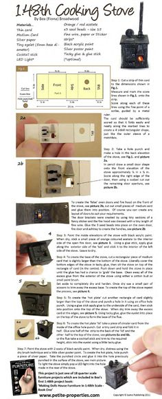 Quarter-scale stove plans & tutorial This is not a 1:12 scale....  it is a 1:48 Scale.