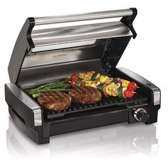 Hamilton Beach 25361 Electric Indoor Searing Grill with Removable Easy-to-Clean Nonstick Plate