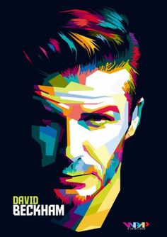 David Beckham in Wedhas Pop Art Portrait