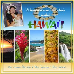 tropical vacation 6x6 photo album 12 pages just add photos HAWAII VACATION scrapbook scrapbook aloha paper bag album