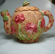 Beadazzle Me Polymer Jewelry: Polymer Clay Sculpted Teapots