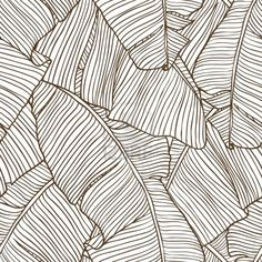 Feuilles De Palmier Modèle Seamless Clip Art Libres De Droits , Vecteurs Et Illustration. Image 13609499.