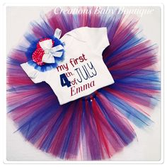 4th of July baby girl outfit , my first 4th of July , personalized baby 4 th of July outfit , red , white and blue outfit by CreationsBabyB on Etsy https://www.etsy.com/listing/288882653/4th-of-july-baby-girl-outfit-my-first