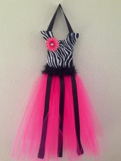 Love this one!!  Zebra Tutu Bow Holder by KiksNBoo on Etsy, $16.00