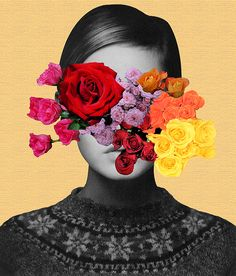 can't remember who painted, if someone know please tell me cause is one of my favorites =) Photomontage, Flower Collage, Magazine Collage, Fashion Collage, Gcse Art, Pop Surrealism, Surreal Art, Digital Collage, New Wall