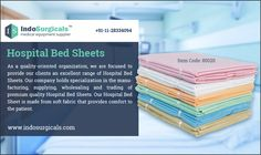 Hospital Bed Sheets Supplier in India - http://www.indosurgicals.com/hospital-scrubs-linens-manufacturer/hospital-bed-sheets/index.php