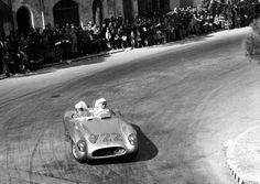 Stirling Moss & Dennis Jenkinson winners of the 1955 Mille Miglia...