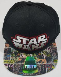 ff5eff171a7 Boys Youth Star Wars Baseball Cap Hat Black Adjustable Snapback One Size  New  fashion