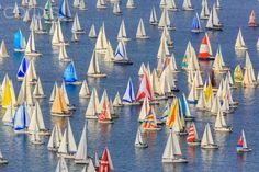 Barcolana Sailboat Race, the historic sailing regatta in Trieste, Friuli Venezia Giulia, Italy