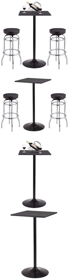 Home Pubs and Bars 115713: Bar Table Stools Set Bistro Pub Counter Elegant Home Kitchen Dining Furniture -> BUY IT NOW ONLY: $99.99 on eBay!
