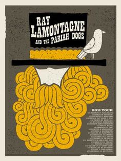 Ray Lamontagne tour poster (mimesis for selfie-portrait) portrait angle is worm's eye view to mimic angle from sketchbook. Is there a fish face selfie equivalent for self-portraits?