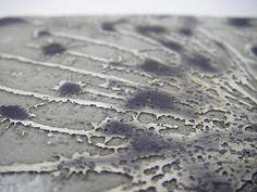 Detail of acid etched silver  Miranda Meilleur