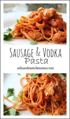 Mix and Match Mama: Dinner Tonight: Sausage & Vodka Pasta. One of the best meals I have ever made! Wrap Recipes, Pork Recipes, Pasta Recipes, Dinner Recipes, Cooking Recipes, Fall Recipes, Yummy Recipes, Recipies, Mama Recipe