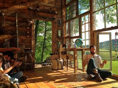 Moon to Moon: The Glass House..... A Handmade Cabin made of Windows