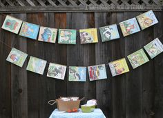 little golden book banner || craftiness is not optional